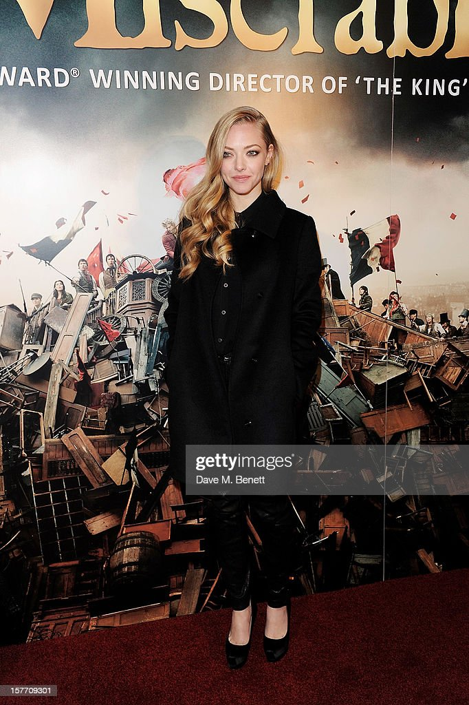 Amanda Seyfried attends an after party following the World Premiere of 'Les Miserables' at The Roundhouse on December 5, 2012 in London, England.