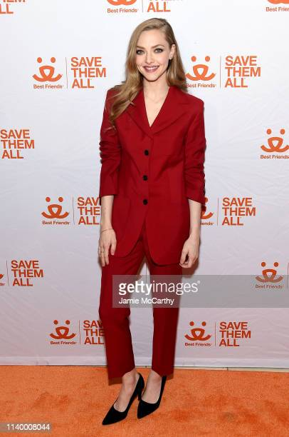 Amanda Seyfried attends Best Friends Animal Society's Benefit to Save Them All at Gustavino's on April 02 2019 in New York City