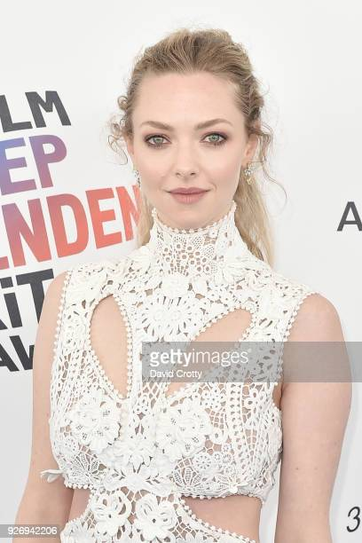 Amanda Seyfried attends the 2018 Film Independent Spirit Awards Arrivals on March 3 2018 in Santa Monica California