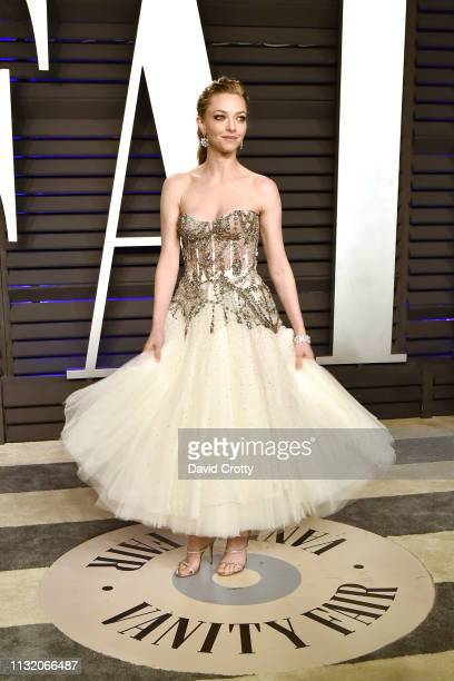 Amanda Seyfried attends the 2019 Vanity Fair Oscar Party at Wallis Annenberg Center for the Performing Arts on February 24 2019 in Beverly Hills...