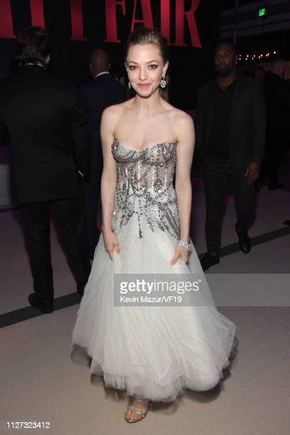 Amanda Seyfried attends the 2019 Vanity Fair Oscar Party hosted by Radhika Jones at Wallis Annenberg Center for the Performing Arts on February 24,...