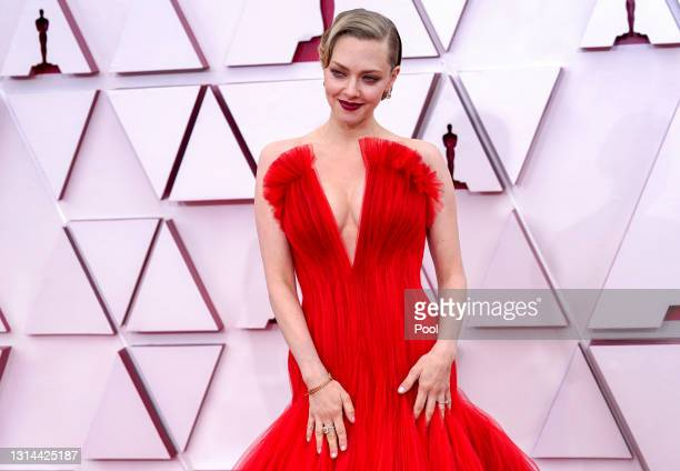 Amanda Seyfried attends the 93rd Annual Academy Awards at Union Station on April 25, 2021 in Los Angeles, California.