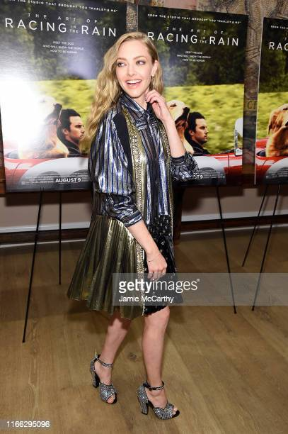 Amanda Seyfried attends The Art Of Racing In The Rain New York Premiere at the Whitby Hotel on August 05 2019 in New York City