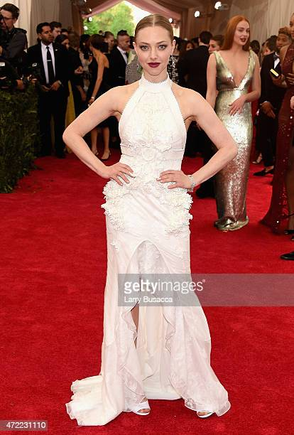 Amanda Seyfried attends the 'China Through The Looking Glass' Costume Institute Benefit Gala at the Metropolitan Museum of Art on May 4 2015 in New...