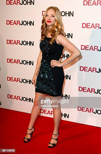 Amanda Seyfried attends the gala screening of 'Dear John' on March 30 2010 in London England
