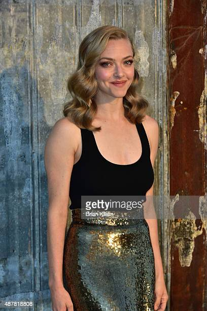 Amanda Seyfried attends the Givenchy show during Spring 2016 New York Fashion Week at Pier 26 on September 11 2015 in New York City