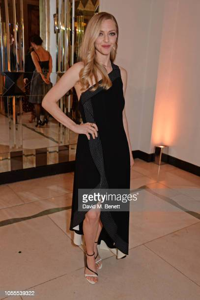 Amanda Seyfried attends the Harper's Bazaar Women Of The Year Awards 2018 in partnership with Michael Kors and MercedesBenz at Claridge's Hotel on...