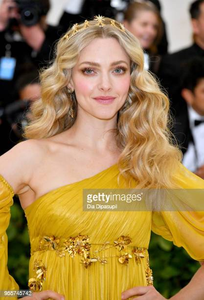 Amanda Seyfried attends the Heavenly Bodies Fashion The Catholic Imagination Costume Institute Gala at The Metropolitan Museum of Art on May 7 2018...