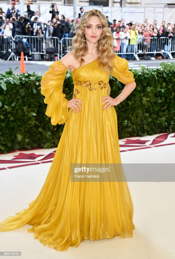 Amanda Seyfried attends the Heavenly Bodies: Fashion & The Catholic Imagination Costume Institute Gala at The Metropolitan Museum of Art on May 7, 2018 in New York City.