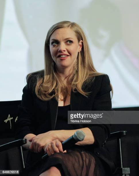 Amanda Seyfried attends The KCET Cinema Series Lumiere Award Ceremony and 'The Last Word' screening at ArcLight Sherman Oaks on February 28 2017 in...