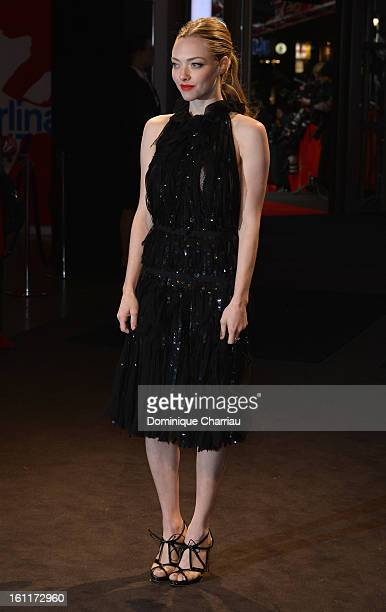Amanda Seyfried attends the 'Les Miserables' Premiere during the 63rd Berlinale International Film Festival at FriedrichstadtPalast on February 9...