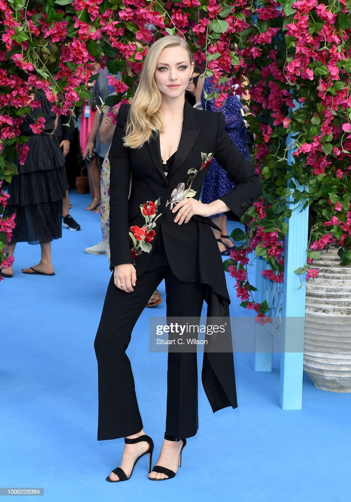 Amanda Seyfried attends the 'Mamma Mia! Here We Go Again' world premiere at the Eventim Apollo, Hammersmith on July 16, 2018 in London, England.