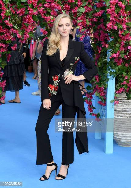 Amanda Seyfried attends the Mamma Mia Here We Go Again world premiere at the Eventim Apollo Hammersmith on July 16 2018 in London England