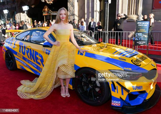Amanda Seyfried attends the premiere of 20th Century Fox's The Art of Racing in the Rain at El Capitan Theatre on August 01 2019 in Los Angeles...