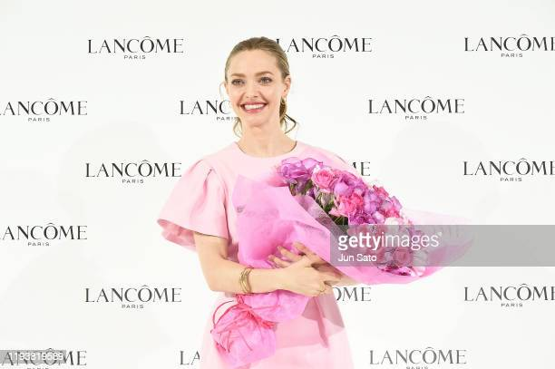 Amanda Seyfried attends the press conference for Lancome on January 15 2020 in Tokyo Japan