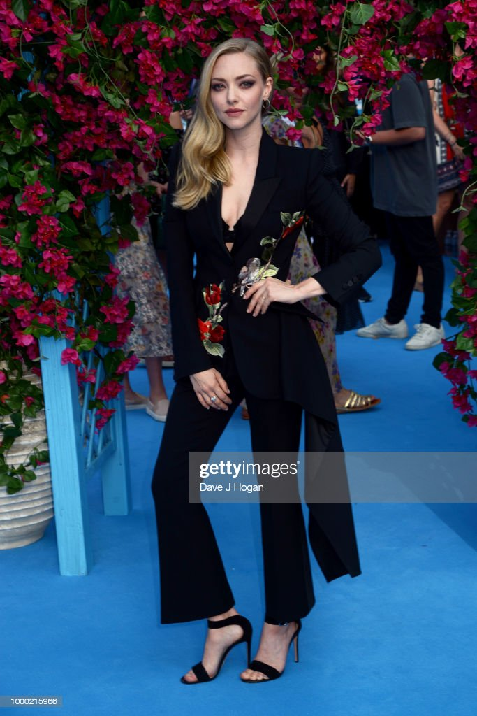Amanda Seyfried attends the UK Premiere of 'Mamma Mia! Here We Go Again' at Eventim Apollo on July 16, 2018 in London, England.