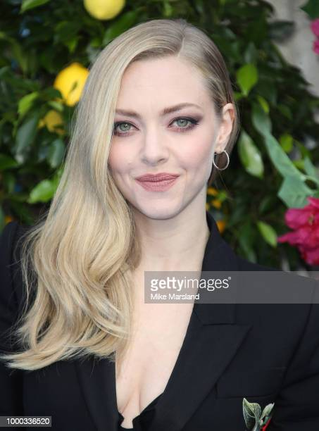 Amanda Seyfried attends the UK Premiere of Mamma Mia Here We Go Again at Eventim Apollo on July 16 2018 in London England