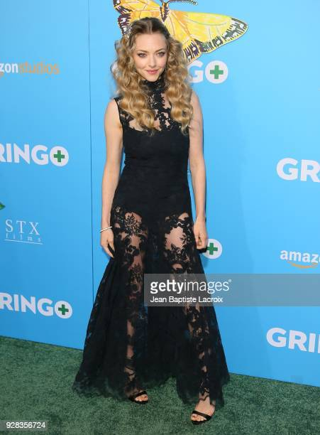 Amanda Seyfried attends the world premiere of 'Gringo' from Amazon Studios and STX Films at Regal LA Live Stadium 14 on March 6 2018 in Los Angeles...
