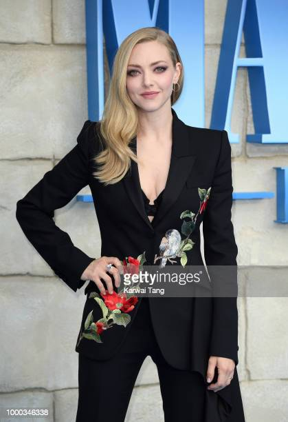 Amanda Seyfried attends the World Premiere of Mamma Mia Here We Go Again at Eventim Apollo on July 16 2018 in London England