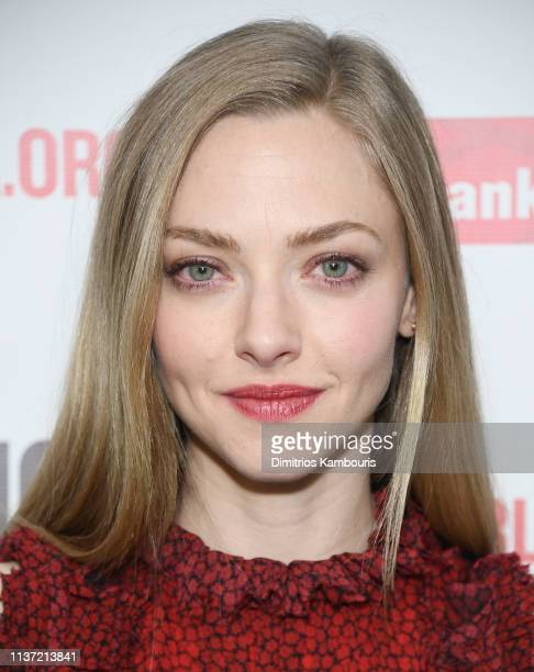 Amanda Seyfried attends White Noise Opening Night at The Public Theater on March 20 2019 in New York City
