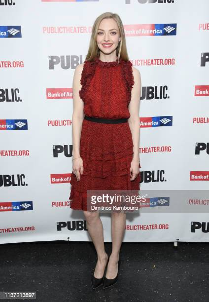 Amanda Seyfried attends 'White Noise' Opening Night at The Public Theater on March 20 2019 in New York City