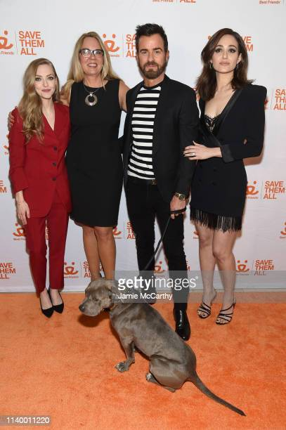 Amanda Seyfried Best Friends CEO Julie Castle Justin Theroux and Emmy Rossum attend Best Friends Animal Society's Benefit to Save Them All at...