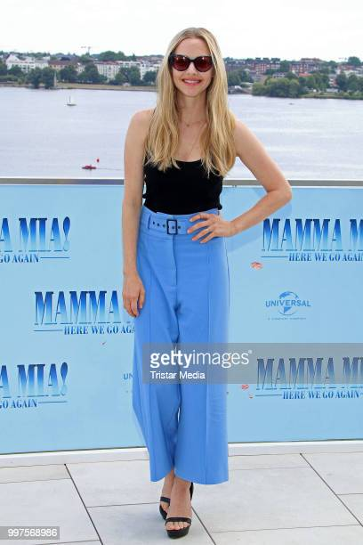 Amanda Seyfried during the Mamma Mia Here we go again' Musical Photo Call on July 12 2018 in Hamburg Germany