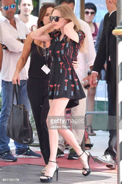 Amanda Seyfried is seen at Excelsior Hotel during the 74 Venice Film Festival on August 31 2017 in Venice Italy