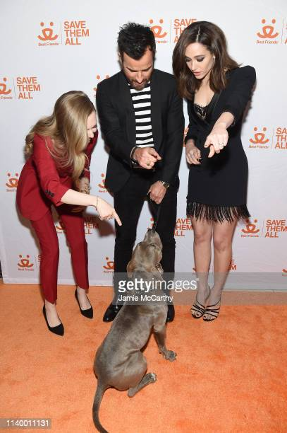 Amanda Seyfried Justin Theroux and Emmy Rossum attend Best Friends Animal Society's Benefit to Save Them All at Gustavino's on April 02 2019 in New...