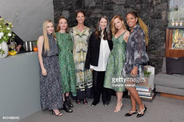 Amanda Seyfried Kate Bosworth Christy Turlington AnnSofie Johansson Mena Suvari and Naomie Harris attend the HM celebration of 2018 Conscious...