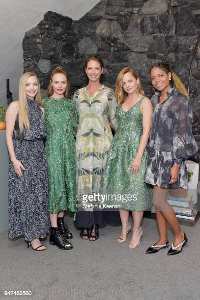 Amanda Seyfried Kate Bosworth Christy Turlington Mena Suvari and Naomie Harris attend the HM celebration of 2018 Conscious Exclusive collection at...