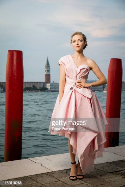 Amanda Seyfried poses for a portrait wearing a JaegerLeCoultre watch during the 76th Venice Film Festival outside of the Hotel Bauer Palladio with...