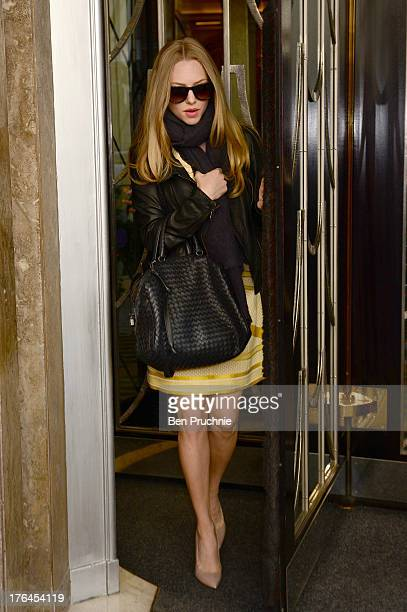 Amanda Seyfried sighted leaving her hotel in London on August 13 2013 in London England