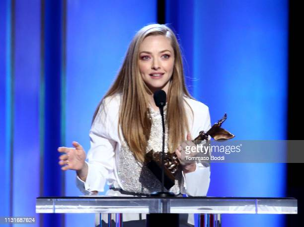 Amanda Seyfried speaks onstage during the 2019 Film Independent Spirit Awards on February 23 2019 in Santa Monica California