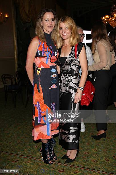 Amanda Shadforth and Kelly Hush attend the screening of 'Past Forward' a movie by David O Russell presented by Prada on November 17 2016 in Sydney...