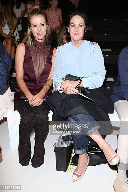Amanda Shadforth and Kirstie Clements attend the Kate Sylvester show at MercedesBenz Fashion Week Australia 2015 at Carriageworks on April 15 2015 in...