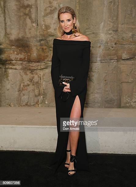 Amanda Shadforth arrives ahead of the Myer AW16 Fashion Launch at Barangaroo Reserve on February 11 2016 in Sydney Australia