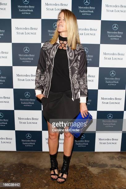 Amanda Shadforth attends the MercedesBenz Star Lounge function during MercedesBenz Fashion Week Australia Spring/Summer 2013/14 at Carriageworks on...