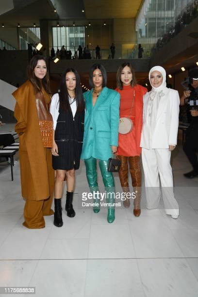 Amanda Shadforth Yoyo Cao Molly Chiang Faye Tsui and Neelofa wearing Max Mara attend the Max Mara show during Milan Fashion Week Spring/Summer 2020...