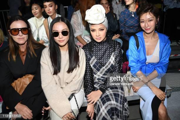 Amanda Shadforth Yoyo Cao Neelofa and Jungsu Pyeon attend the Sportmax show during Milan Fashion Week Fall/Winter 2019/20 on February 22 2019 in...