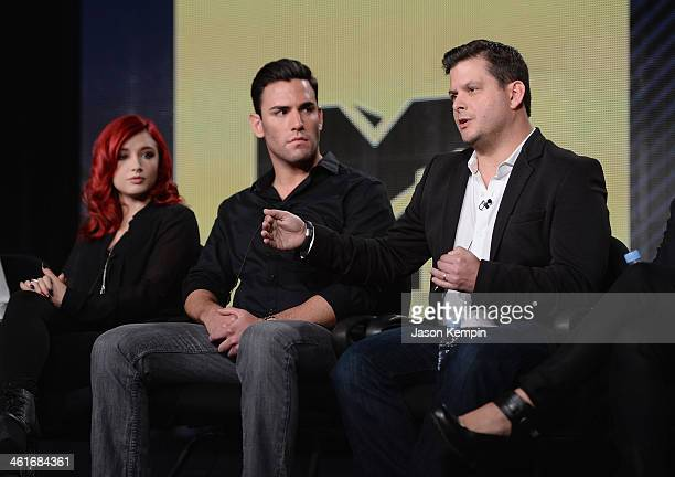 Amanda Shaw Harrison Bader and Executive Producer Mike Duffy from 'MTV's House of Food' attend the Viacom TCA Press Tour Winter 2014 at The Langham...
