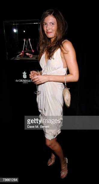 Amanda Shepherd attends the 10th anniversary party of Nobu London at the Roof Gardens on March 21 2007 in London England