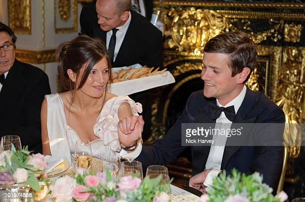 Amanda Sheppard and Alexander SpencerChurchill attend the 75th Aniversary Dinner Of Chateau HautBrion And Clarence Dillon at Lancaster House on June...