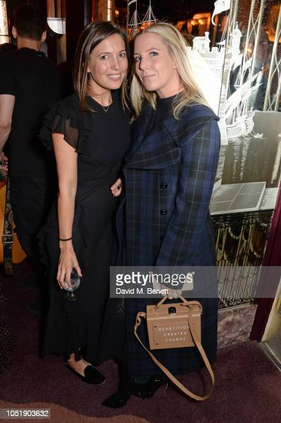 Amanda Sheppard and Alice NaylorLeyland attend the Michael Kors cocktail party to celebrate the collaboration with David Downton at Claridge's Hotel...