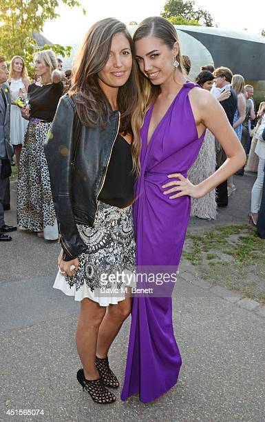 Amanda Sheppard and Amber Le Bon attend The Serpentine Gallery Summer Party cohosted by Brioni at The Serpentine Gallery on July 1 2014 in London...