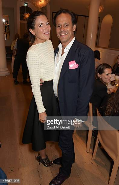 Amanda Sheppard and Arun Nayar attend a private dinner in celebration of the Carolyn Murphy and cheekfrills collaboration at Spring at Somerset House...