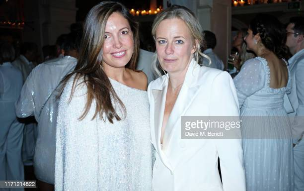Amanda Sheppard and Astrid Harbord attend Jackie St Clair's birthday party at The Belvedere on September 25 2019 in London England