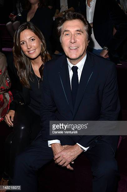 Amanda Sheppard and Bryan Ferry attend the 'Frida Giannini First Fashion Show In China' Front Row on April 21 2012 in Shanghai China