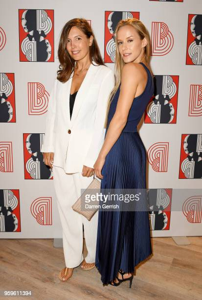 Amanda Sheppard and Hum Fleming attend the Shop at Bluebird Covent Garden launch party at The Carriage Hall on May 17 2018 in London England