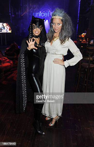 Amanda Sheppard and India Langton attend the UNICEF UK Halloween Ball hosted by Jemima Khan raising vital funds for UNICEF's work for children...